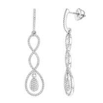 Diamond Infinity Earrings 14K Gold 0.5ct