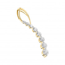Diamond Journey Pendant for Women 0.55ct 14K Gold