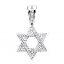 Diamond Pendants 14K Gold Star of David Pendant 1.44ct