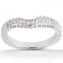 Thin Diamond Platinum Engagement Band 0.12ct