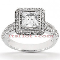 Diamond Platinum Engagement Ring 1.30ct