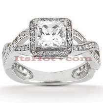 Diamond Platinum Engagement Ring 1.37ct