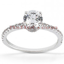 Diamond Platinum Engagement Ring 1.39ct