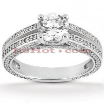 Diamond Platinum Engagement Ring 1.43ct