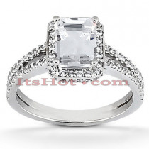 Diamond Platinum Engagement Ring 1.59ct