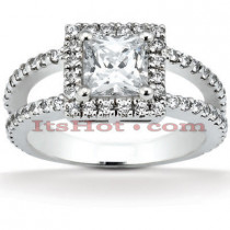 Diamond Platinum Engagement Ring 1.68ct