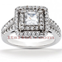 Diamond Platinum Engagement Ring 1.72ct