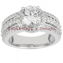 Diamond Platinum Engagement Ring 2.01ct