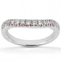 Thin Diamond Platinum Engagement Wedding Band 0.33ct