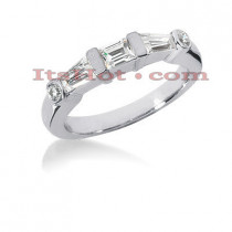 Thin Diamond Platinum Engagement Wedding Ring 0.72ct