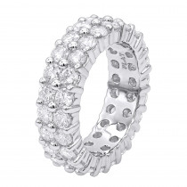 Diamond Platinum Eternity Band 4.60ct