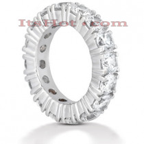 Diamond Platinum Eternity Band 5.60ct