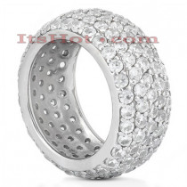 Diamond Platinum Eternity Ring 4.68ct