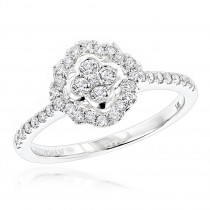 Diamond Promise Rings for Her: 1/2ct Affordable Engagement Ring 14K Gold