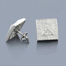 Diamond Pyramid Earrings 14K 1.40ct