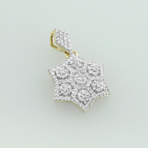 Diamond Star of David Pendant 14K 0.38ct