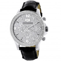 Diamond Watches: Luxurman Mens Diamond Watch 0.18ct