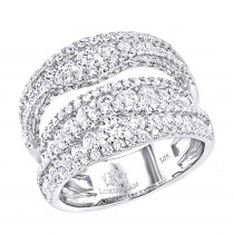 Exquisite 14k Gold Diamond Cocktail Ring for Women by Luxurman 2.75ct