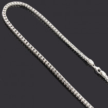 "Franco Chain in Silver 36"" 3mm"