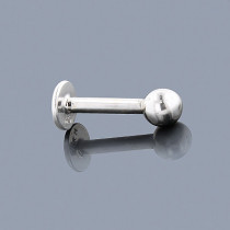Gold Body Jewelry: 14K Solid Gold Ball Labret Stud