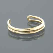 Thin Gold Body Jewelry Adjustable 14K Solid Gold Toe Ring