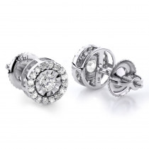 Gold Diamond Stud Earrings 2ct Diamond Earrings Look
