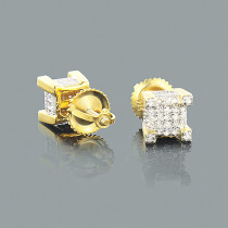 Gold Plated Silver Diamond Earrings 0.35ct