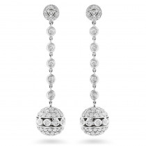 Golden Globes Diamond Dangle Earrings 3ct 14K Gold