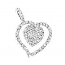 Heart Jewelry 14K Designer Diamond Heart Pendant 0.9ct