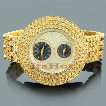 Hip Hop Bling Watches: Ice Time Mens Diamond Watch 2 Carats