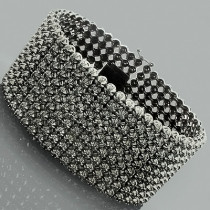 Hip Hop Jewelry 10K Custom 9 Row Black Diamond Bracelet