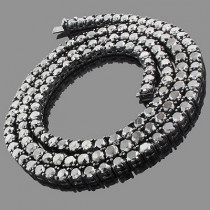 Hip Hop Jewelry: Men's 10K Black Diamond Chain 125.20ct