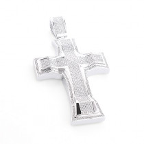 Hip Hop Silver Jewelry: Mens Diamond Cross Pendant 2ct Large