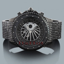Hip Hop Watch Trend: Techno Master Diamond Watch for Men 0.18ct