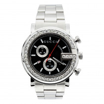 Iced Out Gucci Chrono Diamond Watch 2ct
