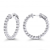 Inside Out Classic Diamond Hoop Earrings 2.75ct 14K Gold