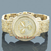 Joe Rodeo Classic Mens Diamond Watch 3.75ct Yellow