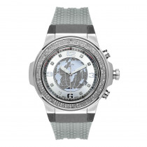 Joe Rodeo Diamond World Face Watch Panter Grey
