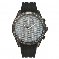 Joe Rodeo Mens Diamond Watch 2.25ct Black Empire