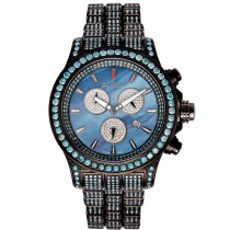 Joe Rodeo Watches Mens Blue Diamond Watch Pilot 27.70