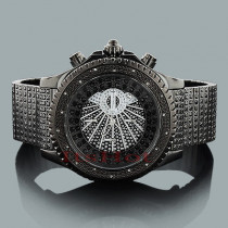 JoJino Mens Watches: Black Steel Diamond Watch 0.18ct