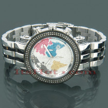 JoJo Joe Rodeo Diamond Watch World Map 2ct 2 Tone