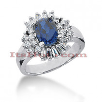Kate Middleton Engagement Ring Style: Diamond and Sapphire Ring 14K