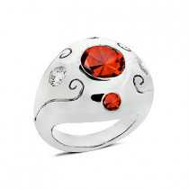 Ladies Diamond and Ruby Ring 0.60ctd 3.90ctr 14K Gold