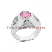 Ladies Diamond and Ruby Ring 0.78ctd 2ctr 14K Gold