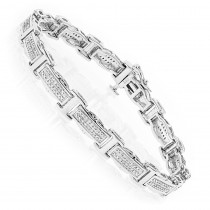 Ladies Diamond Bracelet in Sterling Silver 0.22ct