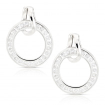 Ladies Diamond Circle Earrings 0.73ct 18K Gold