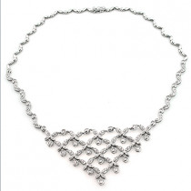 Ladies Diamond Necklaces: Designer Flower Necklace 4.5ct 14K Gold