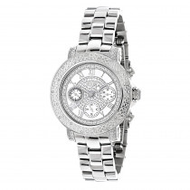 Ladies Diamond Watch 0.30 ct Luxurman White MOP