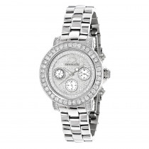 Ladies Diamond Watch 3ct Luxurman Diamond Watch